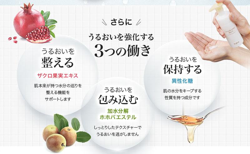 フルーツ果実含む3つの潤い成分とは?